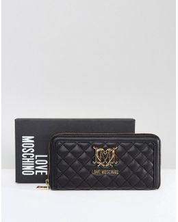 Quilted Logo Purse