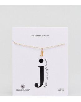Gold Plated 'j' Love Letter Bracelet