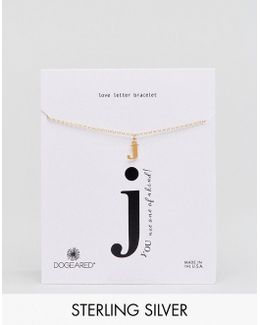 Gold Plated 'j' Love Letter Bracelet