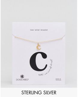 Gold Plated 'c' Love Letter Bracelet