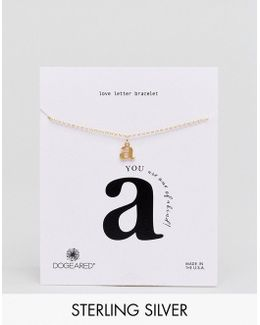 Gold Plated 'a' Love Letter Bracelet