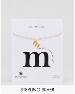 Gold Plated 'm' Love Letter Bracelet