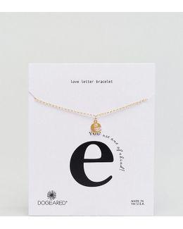 Gold Plated 'e' Love Letter Bracelet