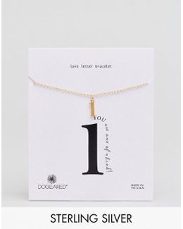 Gold Plated 'l' Love Letter Bracelet