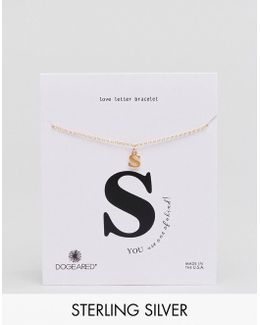 Gold Plated 's' Love Letter Bracelet