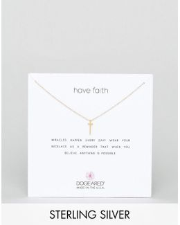 Gold Plated Have Faith Pendant Necklace