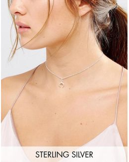 Sterling Silver Let Imagination Shine Crescent Choker