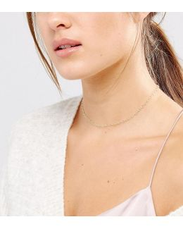 Gold Plated Top Layer Linked Heart Chain Choker