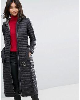 Down Longline Padded Coat