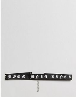 Choker With Latin Slogan