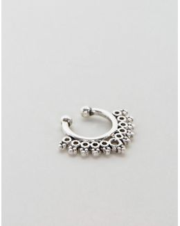 Faux Septum Ring With Ornate Design