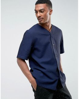 Telly Jersey Button Down Shirt