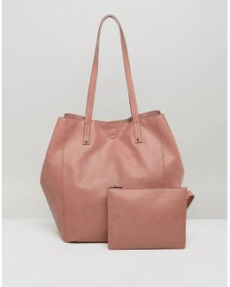 Soft Shopper Bag With Removable Clutch