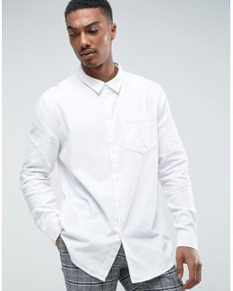 Clean Denim Shirt White