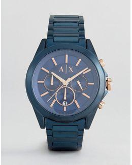 Ax2607 Chronograph Bracelet Watch In Blue 44mm