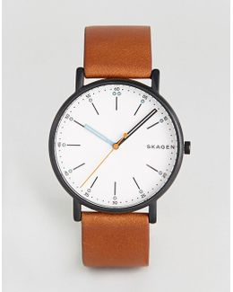 Skw6374 Signatur Leathere Watch In Brown