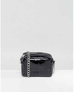 Boxy Crossbody Bag With Chain Strap
