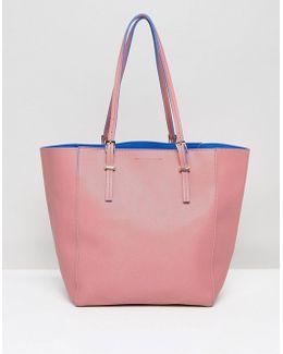 Contrast Color Tote Bag