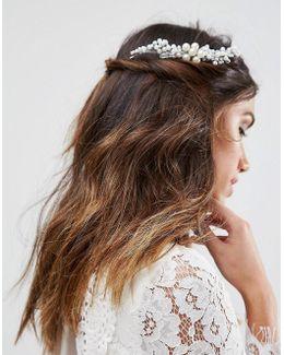 Bridal Statement Faux Pearl Comb