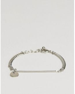 Fine Bar And Disc Bracelet