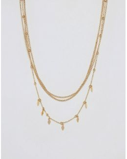Ditsy Chain Multirow Necklaces