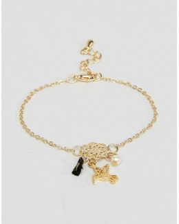 Filigree Bird Tassel Bracelet