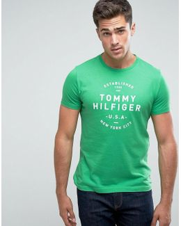 Tom T-shirt Logo Print Regular Fit In Green