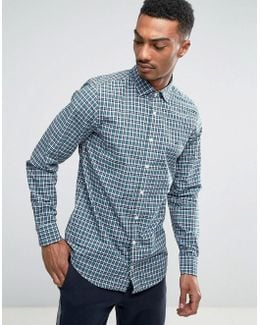 Finny Check Shirt Slim Fit In Blue