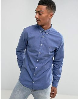 Heather Shirt Regular Fit In Blue