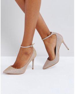Kg By Kurt Geiger Estha Strap Sparkle Court Shoes