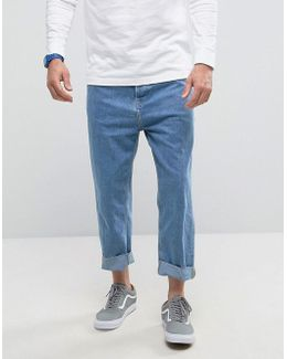 Loose Fit Jeans In Mid Blue Wash