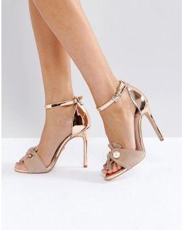 Kg By Kurt Geiger Hermione Nude Strap Heeled Sandals