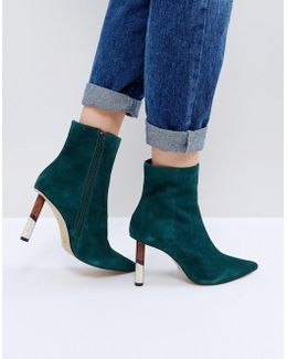 Kg By Kurt Geiger Raine Suede Heeled Ankle Boots