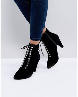Kg By Kurt Geiger Rapido Suede Lace Up Ankle Boots