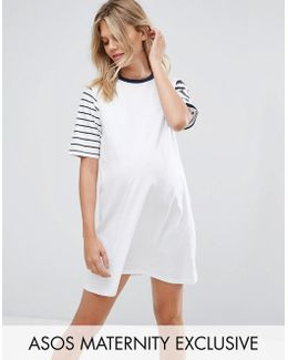 Mixed Stripe Sweat Dress
