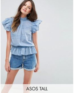 Casual Short Sleeve Victoriana Blouse