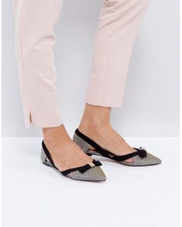 Nica Cut Out Pointed Flat Shoes