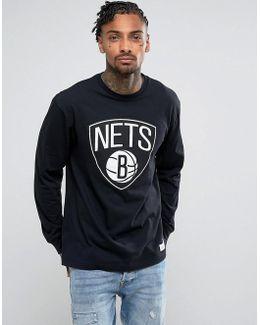 Nba Brooklyn Nets Long Sleeve Top