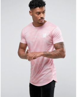 Muscle T-shirt In Pink Camo