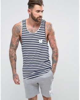 Vest In Navy Stripes