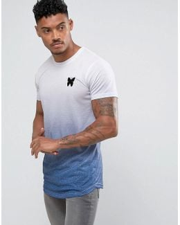 Muscle T-shirt In Navy Fade