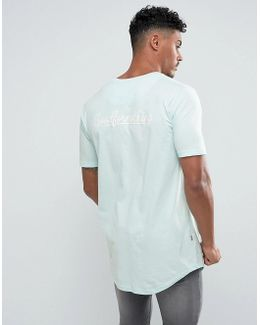 Muscle T-shirt In Mint With Back Print