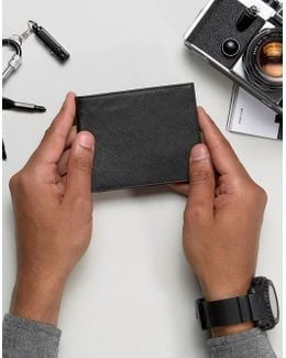 Wallet In Saffiano Leather
