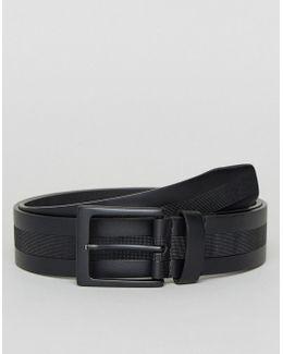 Textured Lined Jean Belt