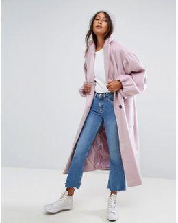 Coat With Statement Sleeve