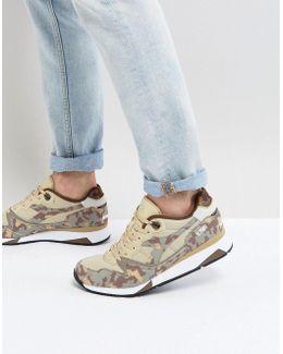 V7000 Camo Sneakers In Beige