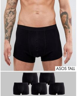 Tall Trunks In Black 5 Pack Save