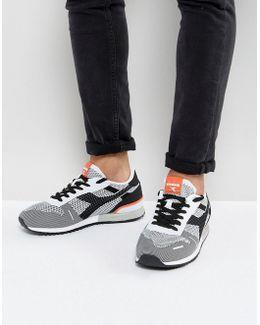 Titan Weave Sneakers In White