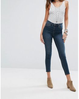 Gummy High Rise Roller Crop Skinny Jeans