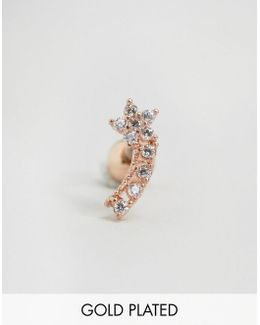 Rose Gold Plated Small Flower Crystal Ear Climber